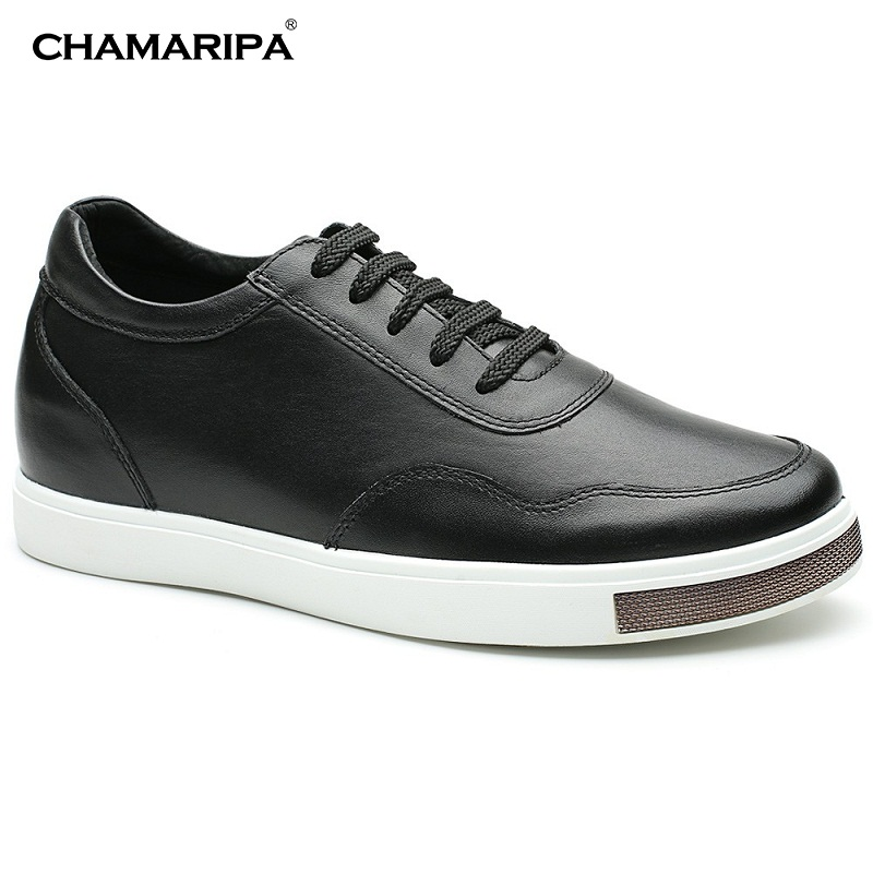 CHAMARIPA Classic Elevator Shoes Men Increase Height 6cm/2.36 inch Casual Leather Shoes Heel Lift Men Taller Shoes H71C26K177D elevator shoes male leather elevator 6cm men s commercial elevator 8cm men s new arrival lacing shoes