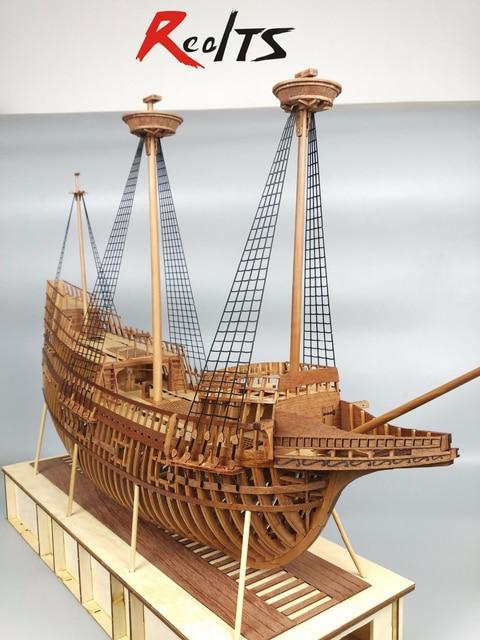 RealTS Model ship kits 1/48 scale Mayflower full rib wood