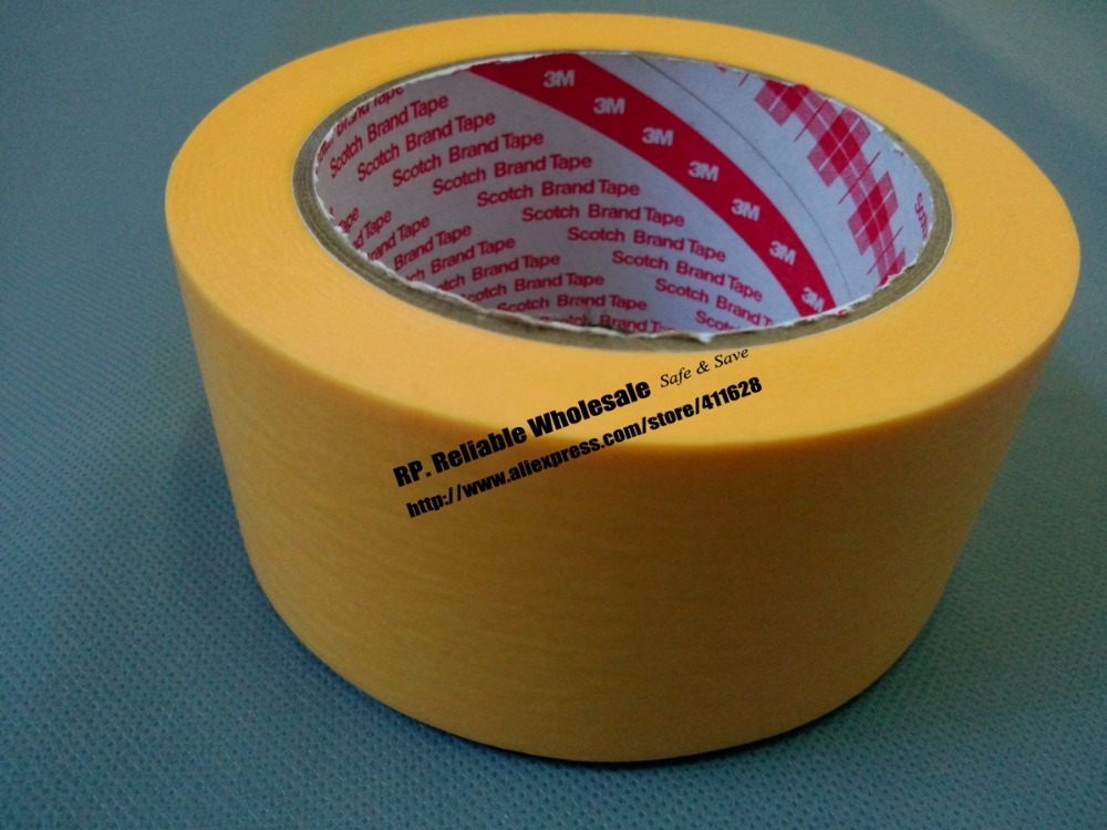 (50mm*50M) 3M244 Yellow Masking Tape for PCB SMD SMT Automobile Soldering Coating Shielding цена и фото
