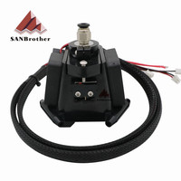 3D Printer Parts Kossel Reprep Plastic Injection New Auto level Effector with J head Nozzle Full Assembly