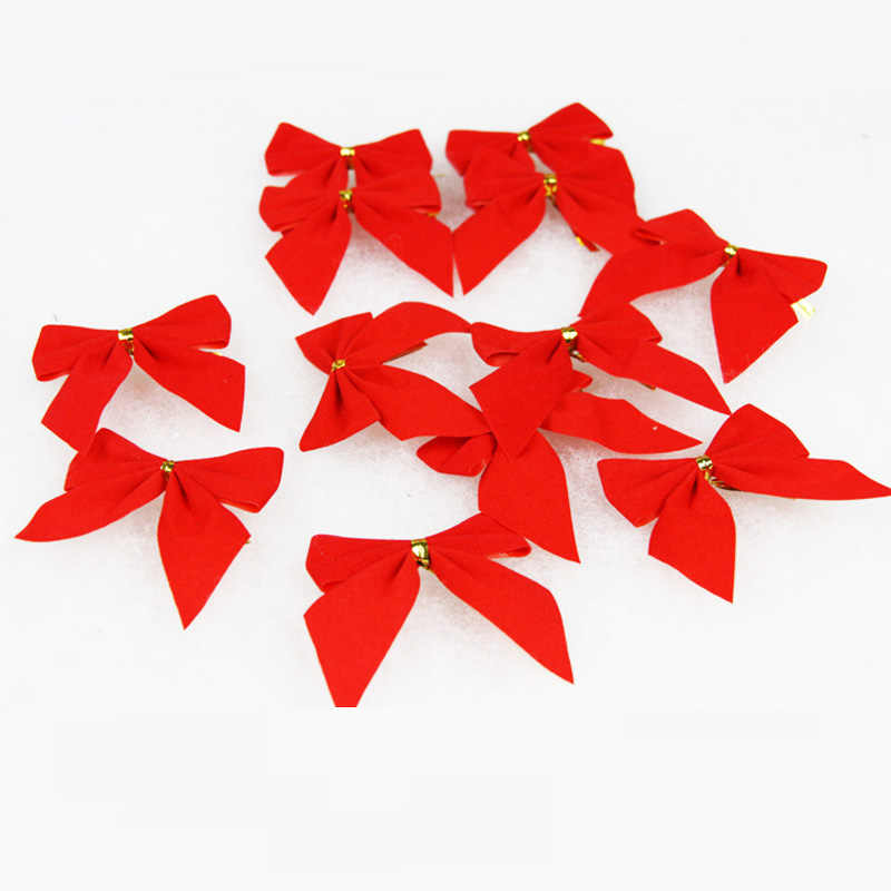 12pcs Pretty Merry Christmas Baubles Toy Hat Bow Xmas Baby Cartoon Party Hat Tree Toys Festival Birthday Party Toys For Children
