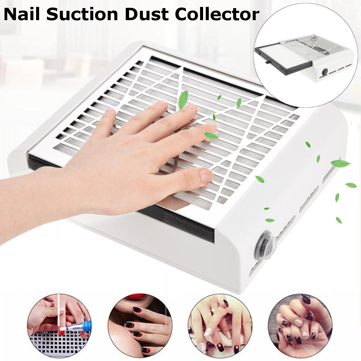110V/220V Strong Power Nail Fan Art Salon Suction Dust Collector 40W Nail Dust Collector Machine Vacuum Cleaner UV Gel Machine 24w nail fan art salon suction dust collector machine vacuum cleaner salon tool acrylic uv gel machine nail dust collector