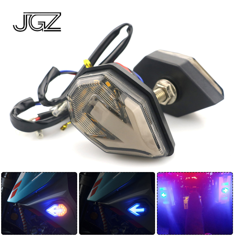 Pair 12V Motorcycle Arrow LED Flashing Turn Signal Lights Motorbike Indicators Blinker font b Lamp b