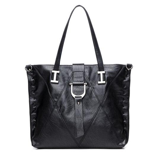 HOT women bag Lady Top-handle bags handbags women famous brands female Stitching casual Big shoulder bag Soft Tote for girls цена 2017