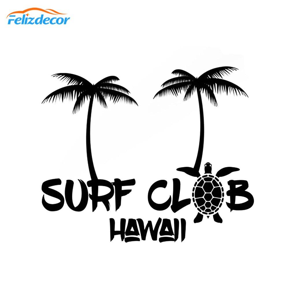 Hawaii Surfboards /& Palm Trees Car Window Decal Bumper Sticker Hawaiian 0361