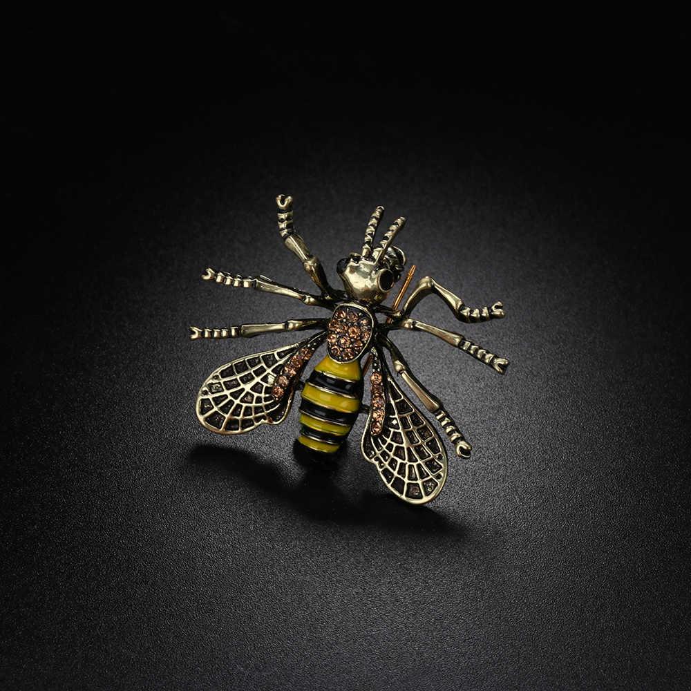 1Pcs VINTAGE Bee เข็มกลัดโลหะแมลงเข็มกลัด Pin ผู้หญิง & ผู้ชายเครื่องประดับน่ารัก Bumblebee ป้ายแฟชั่นผ้า Decors อุปกรณ์เสริม