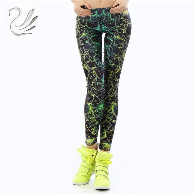 5c74650f2b9980 wholelsales New Fashion Women leggings 3D Printed color legins Ray  fluorescence leggins pant legging for Woman