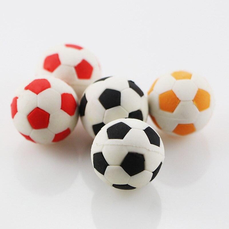 Cartoon Eraser Football Style Gomme School Supplies Material Escolar 3d Silgi Borrachas Fourniture Scolaire Kawaii Borracha