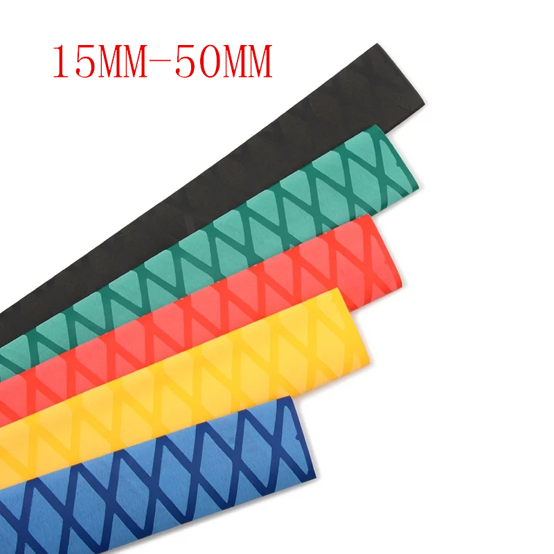 1 m/lot Antiskid checkered heat shrinkable tube Textured 2:1 15MM-50MM Insulation lightning protection Non-Slip free shipping1 m/lot Antiskid checkered heat shrinkable tube Textured 2:1 15MM-50MM Insulation lightning protection Non-Slip free shipping