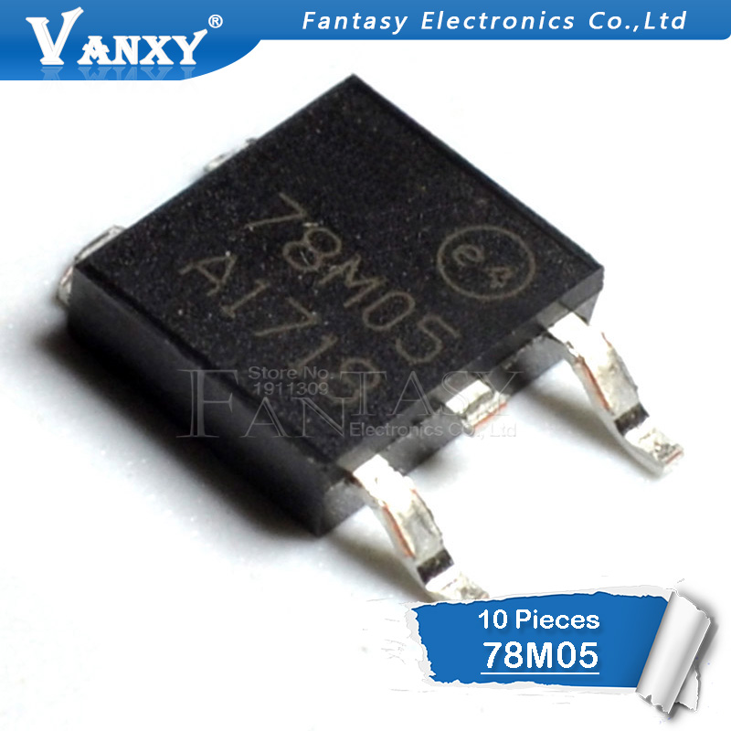 10pcs L78M05CDT TO252 L78M05 TO-252 78M05 POSITIVE VOLTAGE REGULATORS New And Original