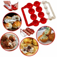 DIY Plastic Stuffed Ball Maker Homemade Stuffed Meat Ball Maker Newbie Meatballs Maker Kicthen Cooking Tool