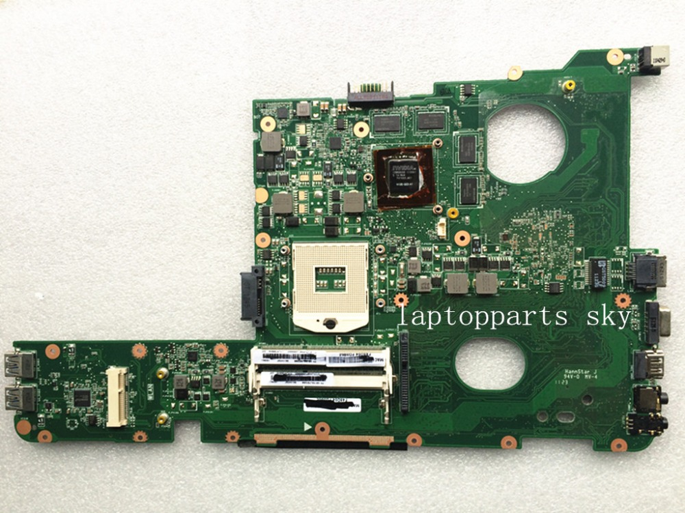 For ASUS N45SF REV:1.3 DDR3 Laptop Motherboard 100% Tested Free shipping