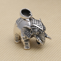 Sterling Silver Winter Sweater Chain Restoring Ancient Ways Thai Silver Lucky Elephant Nose Down Pendant Female