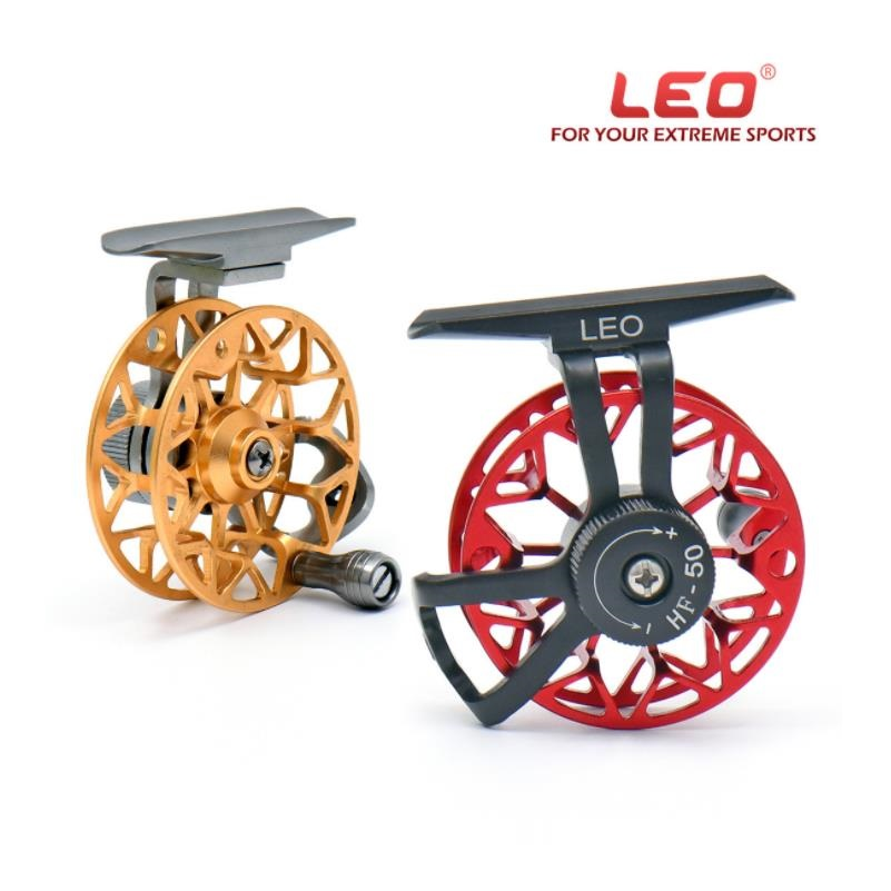 All Metal Fishing Reel Fish line Wheel CNC Process Manufacturering Ice Fishing Wheel Fly FIshing/Raft Wheel LEO Tools accessory