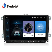 "Podofo 9"" Android 6.0 Car GPS Navigation Multimedia Player 2 din Radio for VW Passat Golf MK5 MK6 Jetta T5 EOS POLO Touran Seat(China)"