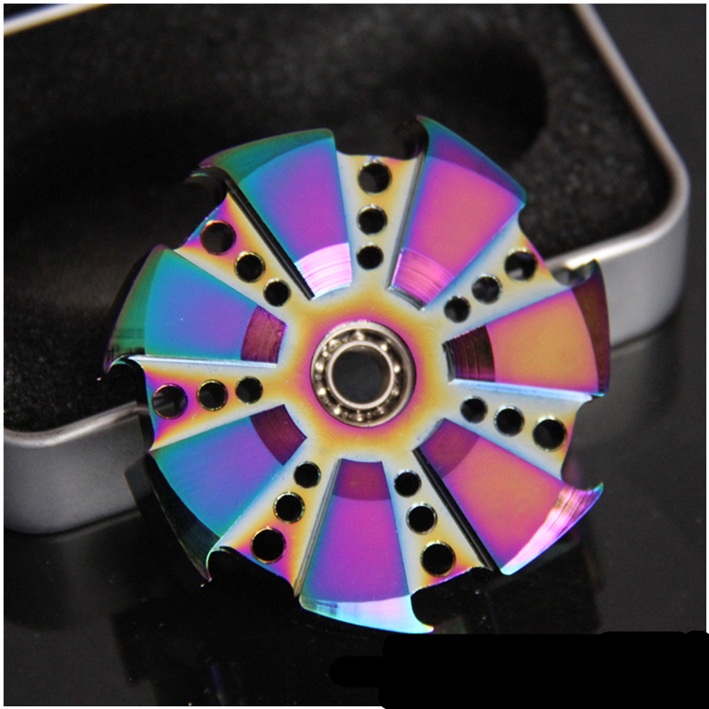Hot Dazzle Colour Styles Alloy Metal EDC Fidgets Hand Spinner Autism ADHD Rotation Time Long Anti Stress High Quality Adult Toys