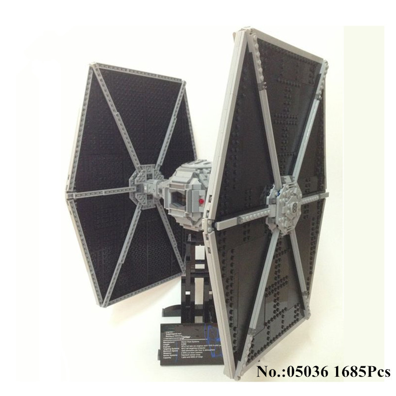 H&HXY IN STOCK 1685pcs Star 05036 Series Wars Tie Fighter Building Educational Blocks Bricks Toys Compatible 75095 Gifts lepin in stock lepin 23015 485pcs science and technology education toys educational building blocks set classic pegasus toys gifts