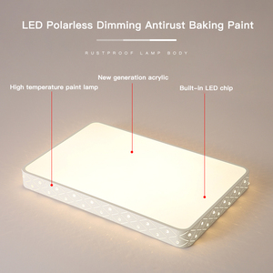 Image 4 - Vissanfo מודרני 220v הר פלאש led תקרת אורות סלון חדר שינה אור גופי שלט רחוק מטבח מנורה