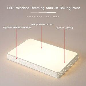 Image 4 - Vissanfo nowoczesne 220v led do montażu podtynkowego lampy sufitowe do salonu sypialnia oprawy oświetleniowe pilot zdalnego sterowania kuchnia lampa