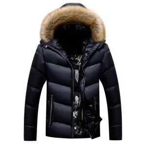 Image 4 - BOLUBAO Marke Männer Warme Parka Hohe Qualität Winter Männliche Mit Kapuze Mantel Jacken Casual Pelz Kragen Winddicht herren Parka