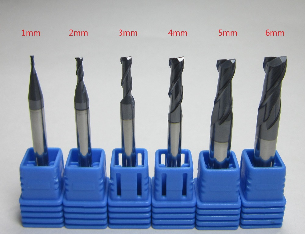6mm 8MM 10MM HRC45 3 flutes carbide end mills set milling cutter for aluminum