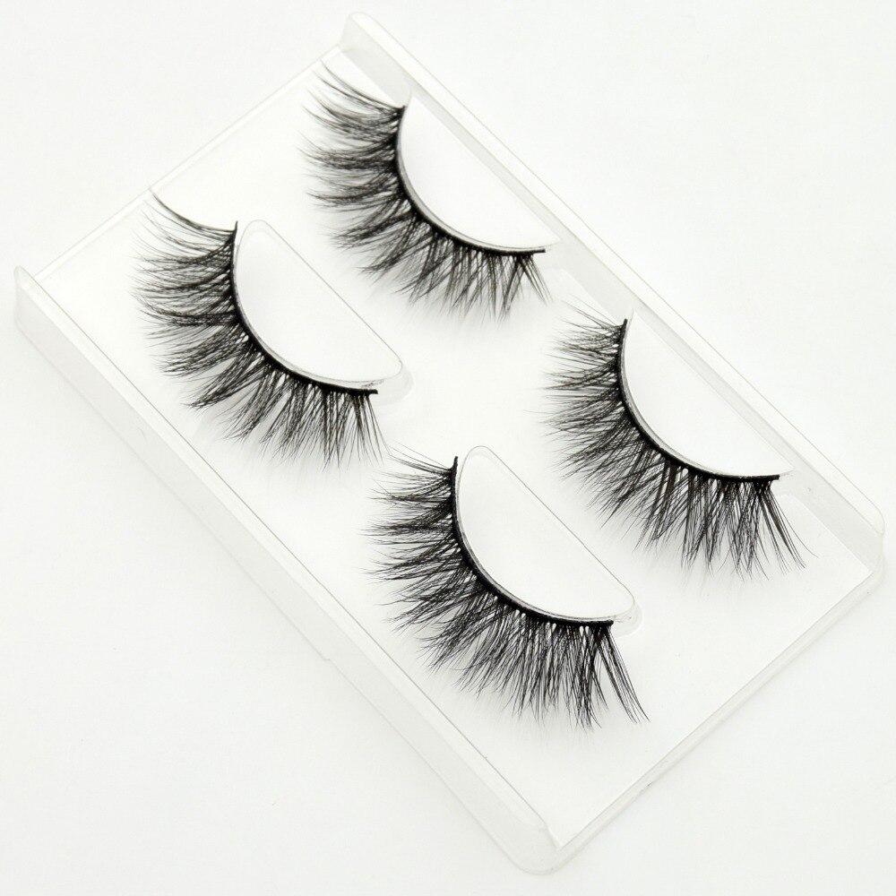 2pairs/pack Visofree Mink False Eyelash Full Strip Mink Lashes Winged Wimpers Natural False Eyelashes Make Up #758 Maquillaje