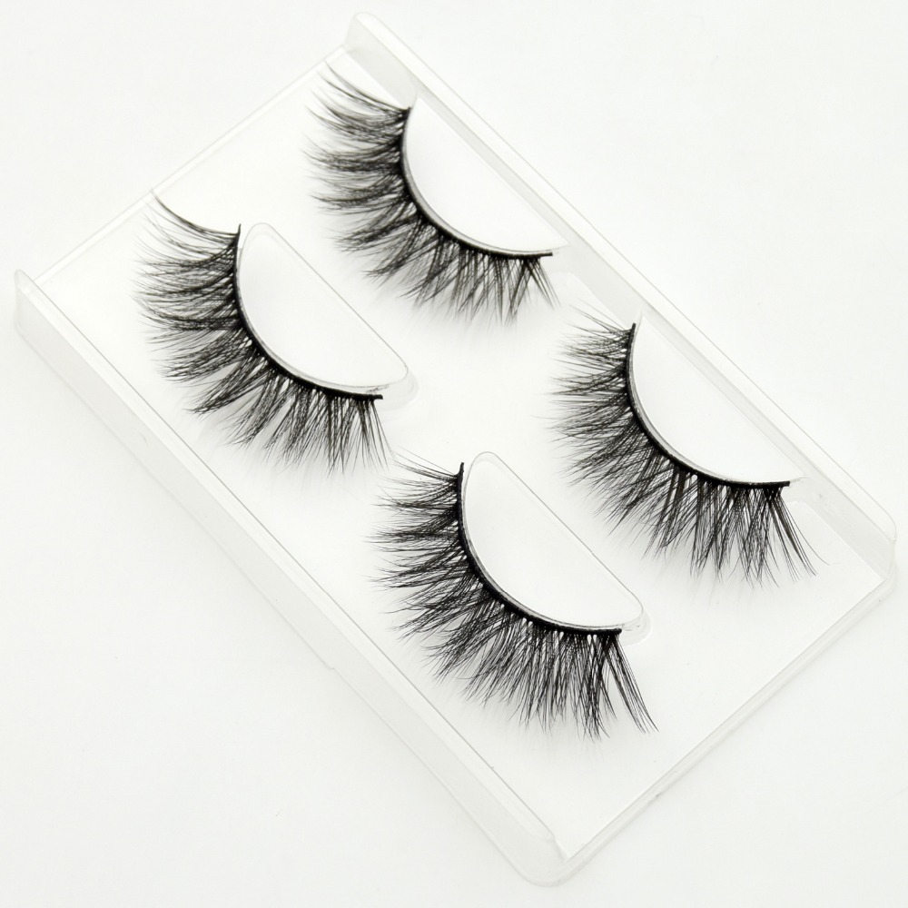 2pairs/pack Visofree Mink False <font><b>Eyelash</b></font> Full Strip Mink Lashes Winged Wimpers Natural False <font><b>Eyelashes</b></font> Make Up #758 maquillaje image