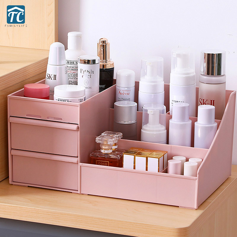 Cosmetic Storage Box Drawer Desktopplastic Makeup Dressing Table Skin Care Rack House Organizer Container Mobile Phone Sundries