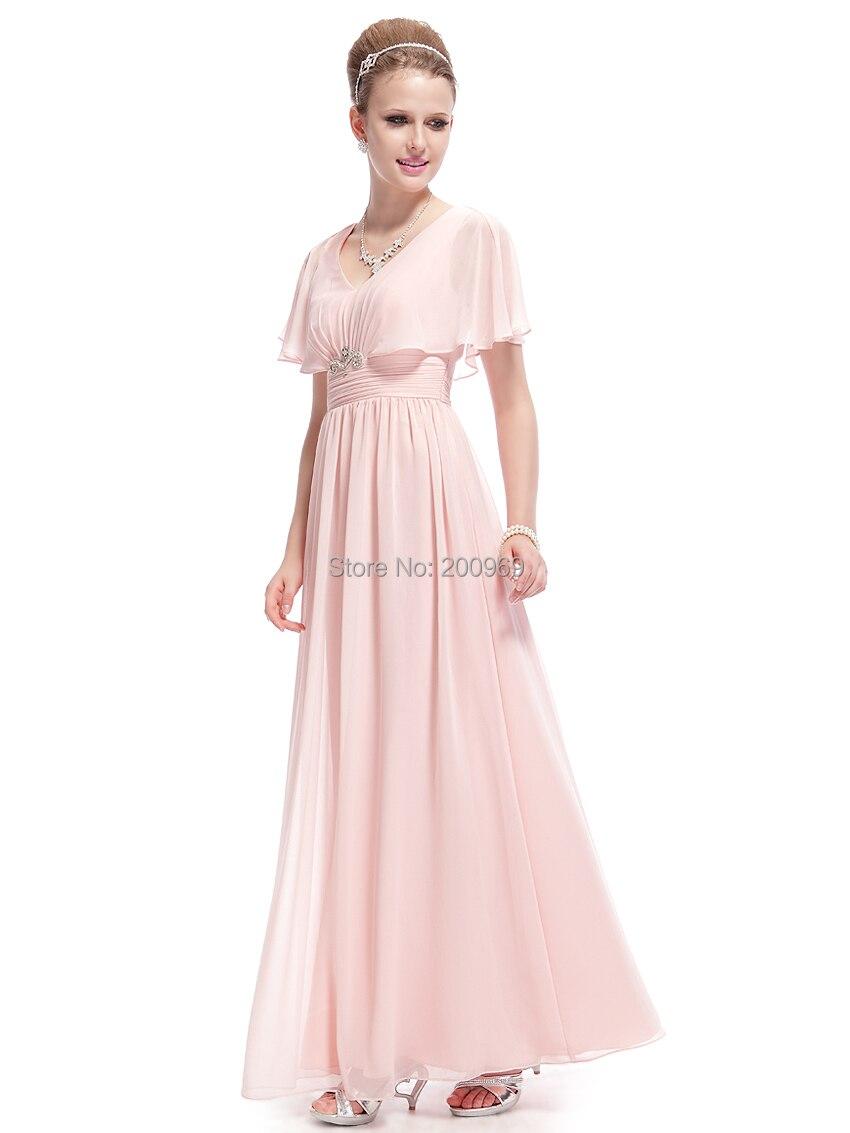 b319ead937 Prom Dresses Ever Pretty 8096 Elegant Pink Sexy Capelet Chiffon ...