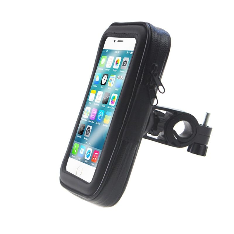 Upgrade Universal Bicycle Motorcycle MTB Bike Phone Holder Waterproof Bag Case Handlebar Mount Holder For IPhone Samsung GPS