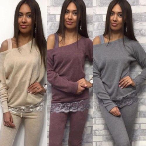 Newest Women Off Shoulder font b Jumpers b font Long Sleeve font b Shirts b font