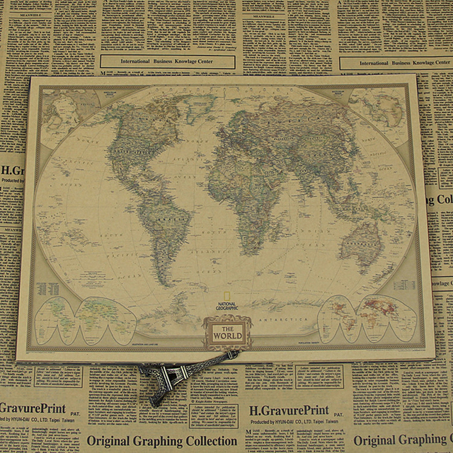 World Map Old Style.World Map Same With Obama Vintage Paper Old Style Poster President