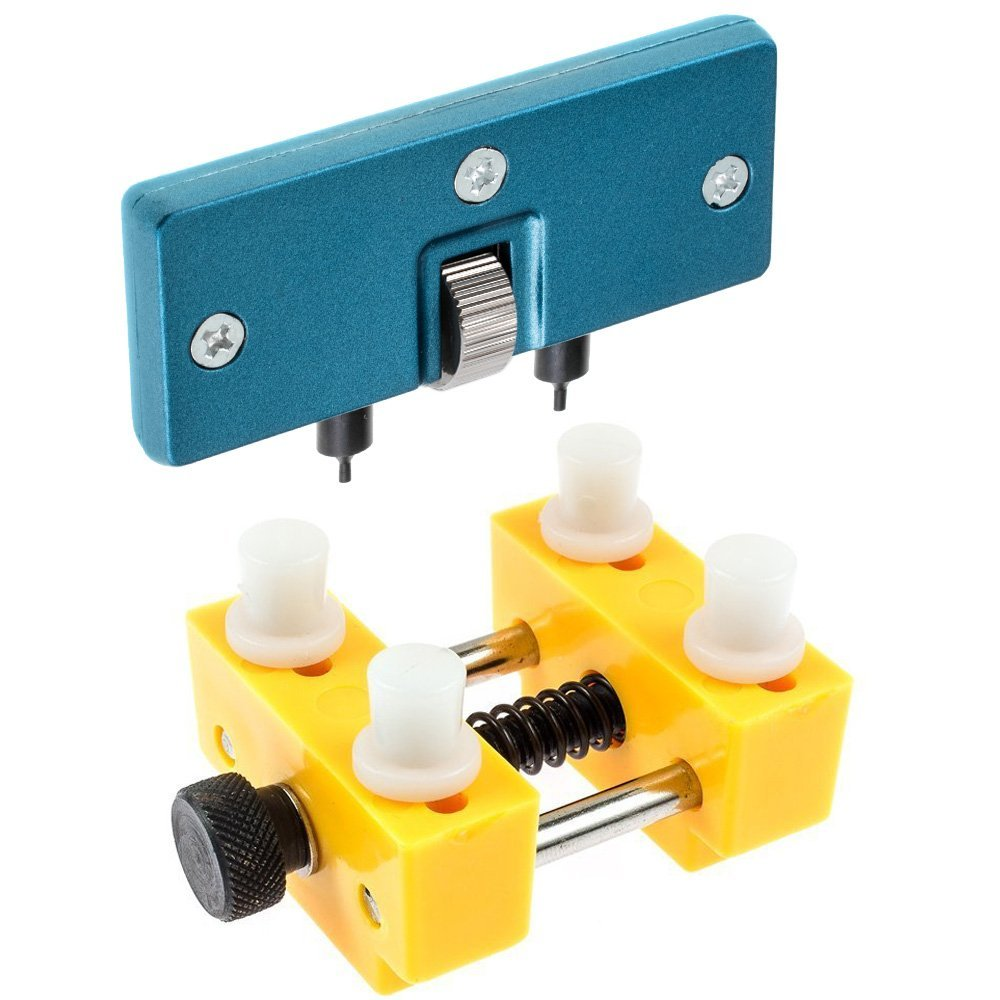 Watch Adjustable Opener Back Case Press Closer Remover Repair Watchmaker Tool and Watch Case Back Opener Repair Remover Holder цена