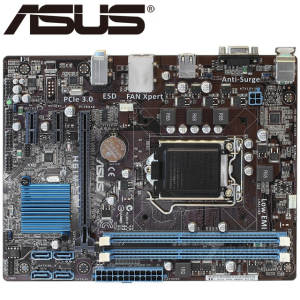 ASUS Mainboard Motherboard-Boards Cpu H61 Lga 1155 Desktop DDR3 Used H61M-E Usb2.0-22/32nm