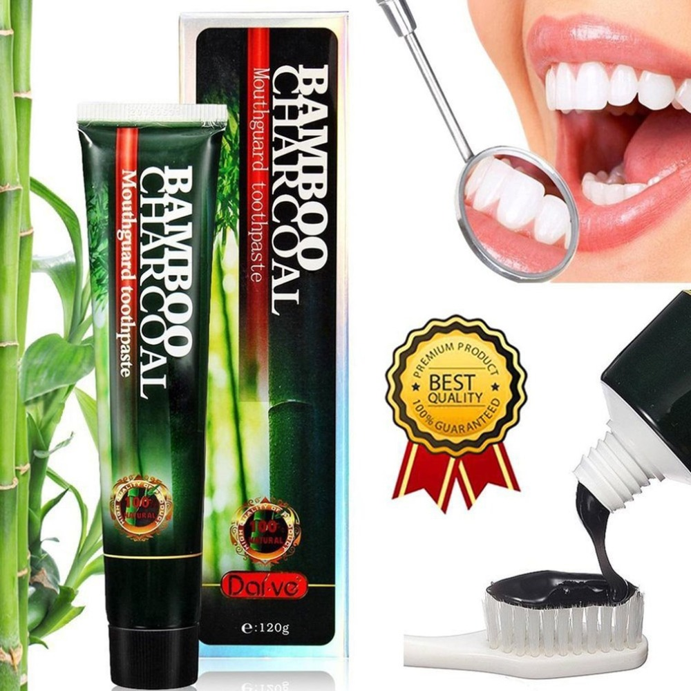 120g Natural Toothpaste Bamboo Charcoal Black Toothpaste