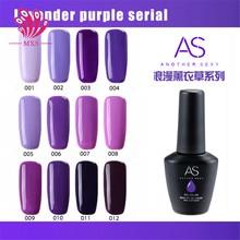 AS LED Gel Polish 15Ml 12 Colors Lavender purple Series Nail Natural Resins Non-Toxic Tasteless Nail UV Gel