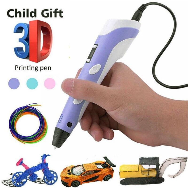 2019 Hot Sale 3D Pen LED Screen DIY 3D Printing Pen For Kids Design Drawing Pen 100m ABS Filament Creative Toy Gift|3D Pens| |  - title=