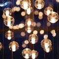 Cristal LEVOU Bola De Vidro Da Luminária Meteor Chuva Meteórica Chuveiro Bar Escada Droplight Chandelier Iluminação AC110-240V