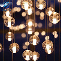 LED Bola de Cristal de cristal Colgante de La Lámpara de Meteoros Lluvia lluvia de Meteoritos Bar Escalera Droplight Araña de Iluminación AC110-240V