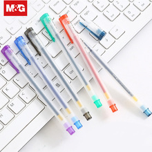 12Pcs Refills Gel Pen Magical Writing Neutral Pen 0.5mm Tip Black Red Blue Ink Exam Pen Touch Pen School Office Supplies GP1280 0 5mm refill plastic gel pen 12pcs simple neutral pen black red blue high quality exam pen office school writing supplies k 35