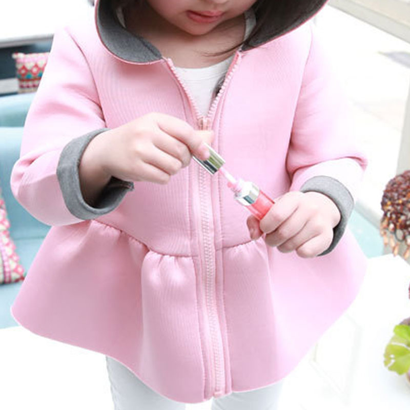 287ed5dd5 2017 New Cute Rabbit Ear Hooded Girls Coats And Jackets Kids Pink ...