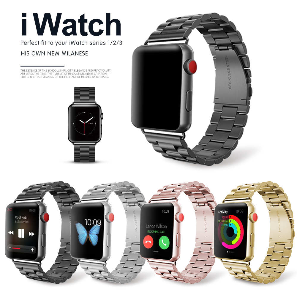 Stainless Steel Band For Apple Watch 42mm Series1 Series 2 Series 3 Replacement Classic Version For iWatch Strap 38mm Metal Belt apple watch band 38mm 42mm secbolt metal replacement wristband sport strap for apple watch nike series 3 series 2 series 1
