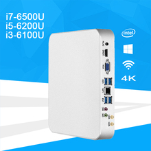X26UL Mini PC i7 6500U i5-6200U i3-6100U Windows 10 DDR4 4K UHD Thin Client HTPC Gaming PC HDMI VGA WiFi Built-in Cooling Fan