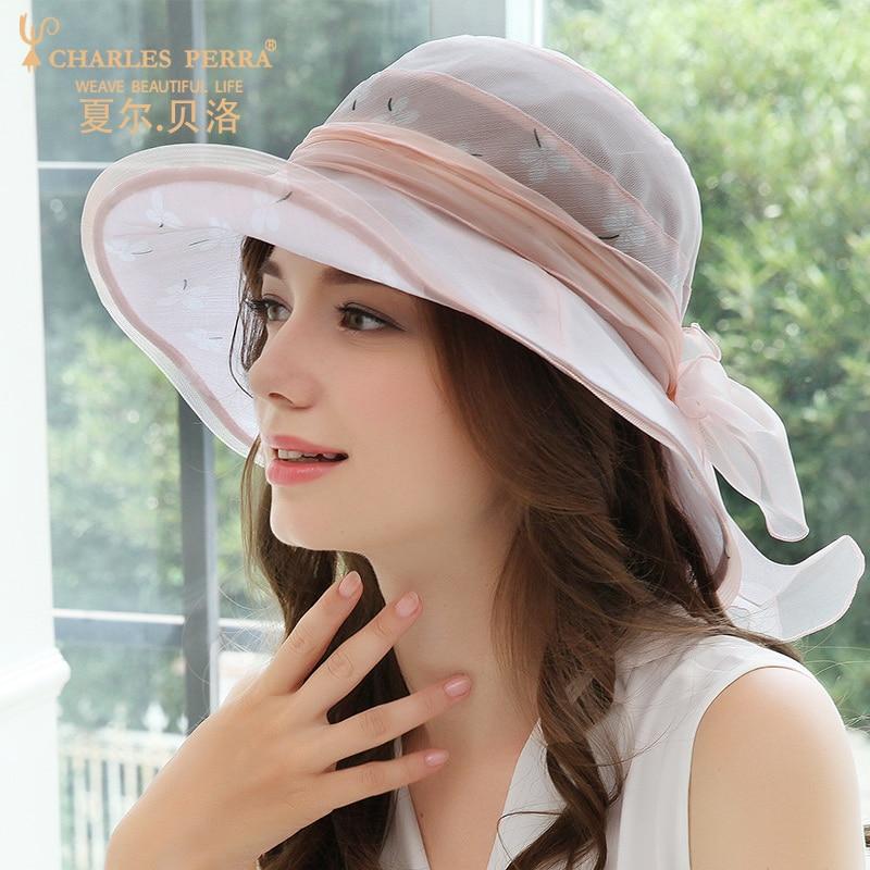 Soleil ombre chapeau femme été nouvelle soie visière coréen vacances chapeaux plage élégant réglable Anti-ultraviolet respirant Cap H6644