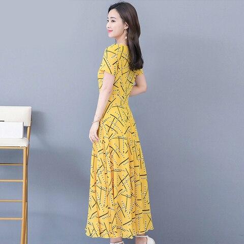 Women Short Sleeve Dresses Print Summer Dress 2019 Fashion Casual Summer Dress Lahore