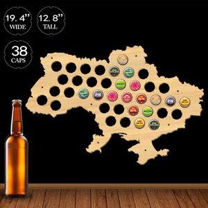 Image 2 - Ukraine Beer Cap Map Wooden Craft Bottle Beer Cap Map Of Ukraine Bottle Cap Display Holder Gift For Beer Cap Collector