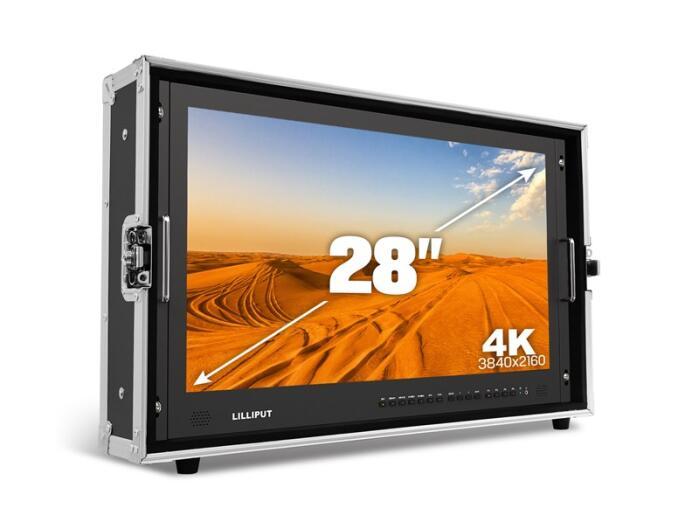 LILLIPUT BM280 28 3840*2160 трансляции монитор 3G SDI 4 К Ultra HD монитор SDI HDMI Талли директор монитор для Камера