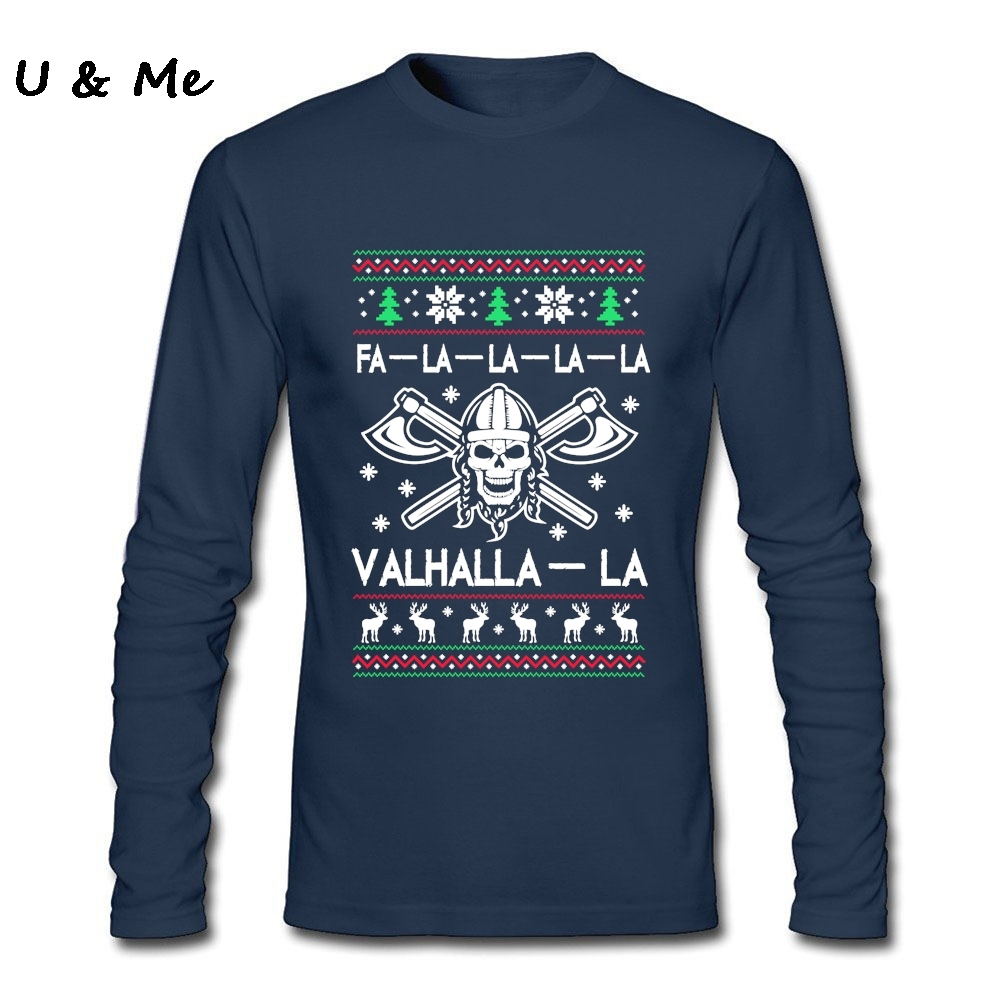 aliexpresscom buy adult slim party t shirt men valhalla la christmas shirts with viking cheap sale long sleeved tee shirts from reliable tee shirt