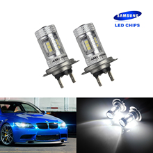 ANGRONG 2x 499 H7 LED Headlight Fog Light Driving Bulb For Audi BMW Mercedes VW