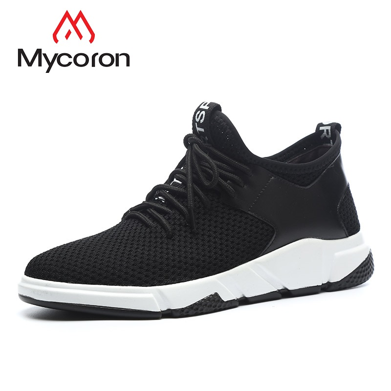 Mycoron Luxury Fashion Brand Summer Light Breathable Air Mesh Fabric Casual Shoes Male Flat Soft Bottom Comfortable Casual Shoes